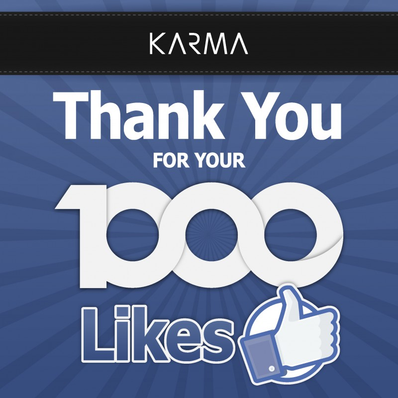 Studio Karma - Thank You 1000 Likes FaceBook