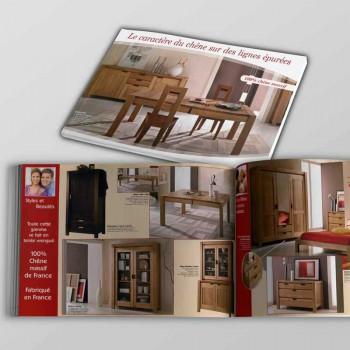 Création Brochure 8 Pages Meubles Antan