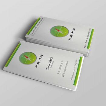 Création de cartes de visite P.E.P.S