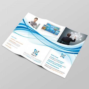 Création Dépliant Commercial 3 Volets SCT - Services et Conseils Telecoms