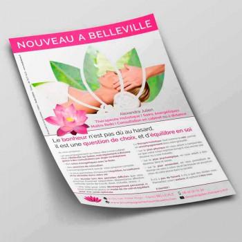 Création Flyer Alexandra Julien - Reiki - Thérapeuthe - Auteure - Création de Flyer et Dépliant