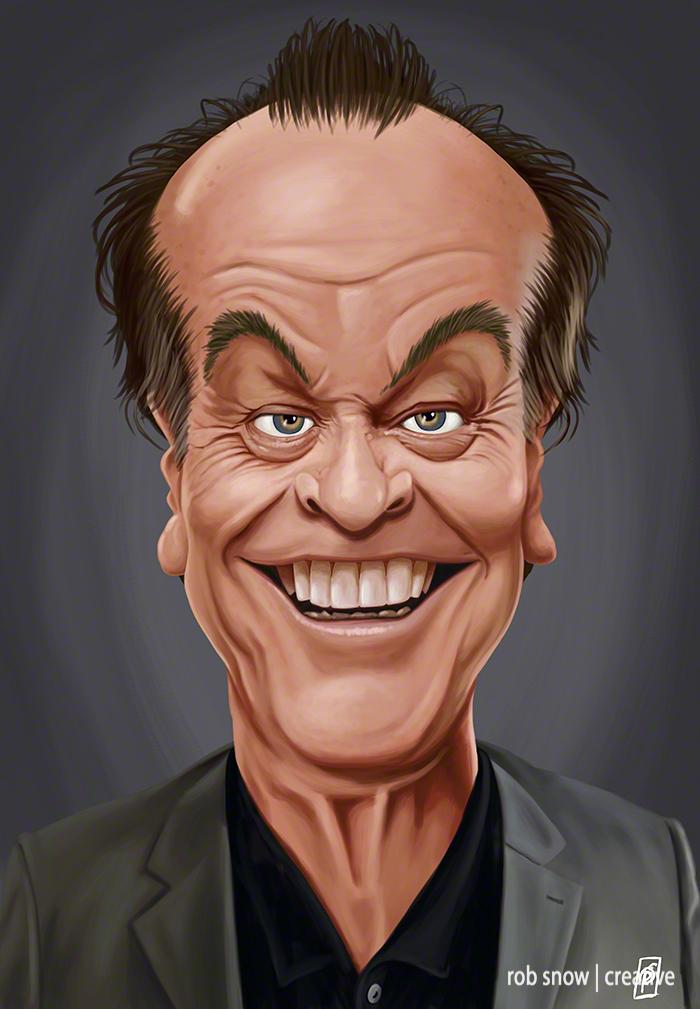 Celebrity Sunday - Jack Nicholson - Rob Snow Artwork