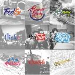 Logos de marques célèbres calligraphiés