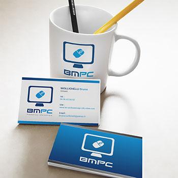 Création Carte de Visite BMPC Service et installation informatique par Studio Karma - Graphiste Freelance Formation Lyon Ain Rhone Alpes