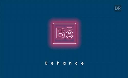 Logo Behance - Social Networking Creative Logo Animation by Divan Raj - Animation Logo réseaux sociaux