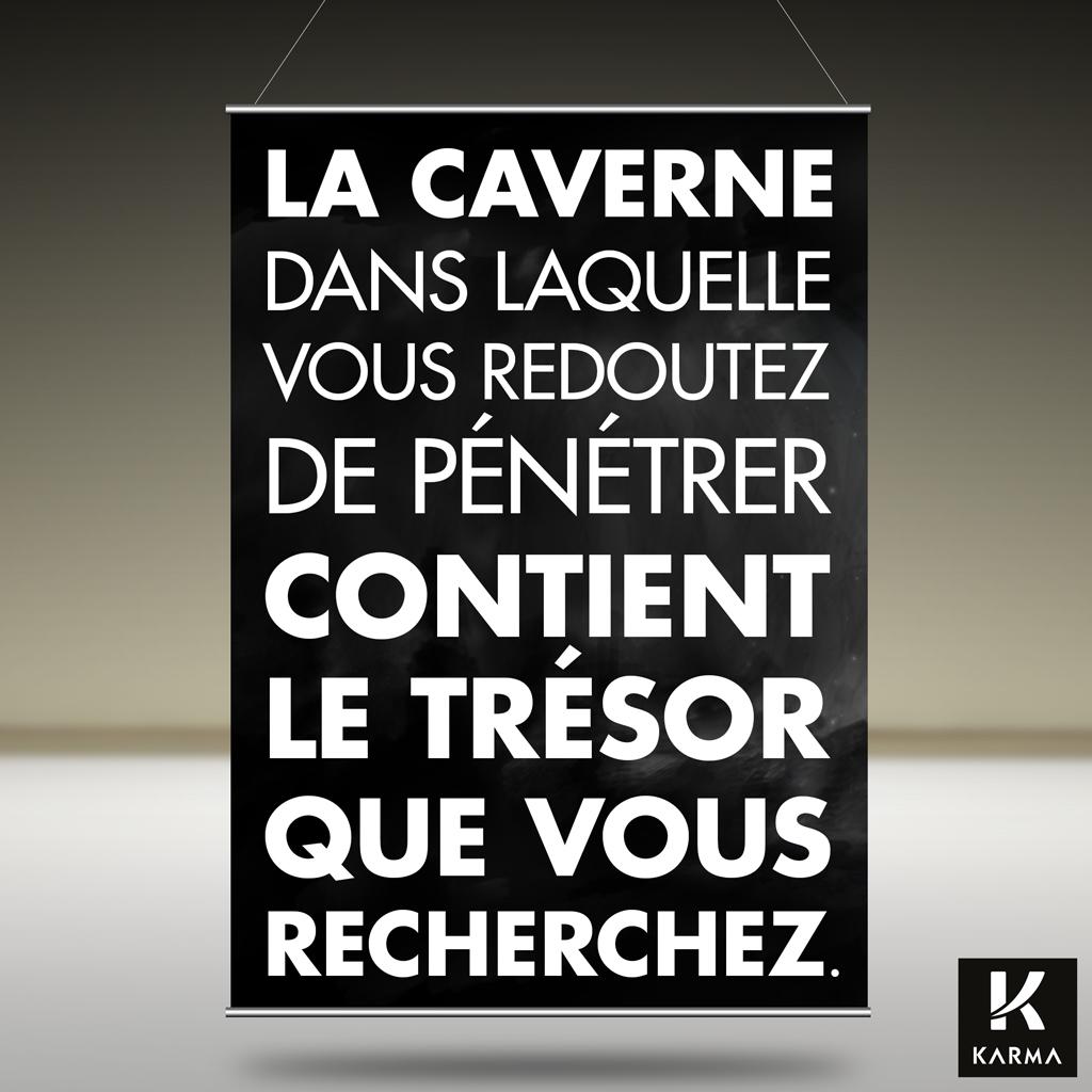 Poster citation La Caverne -Joseph Campbell - Studio Karma