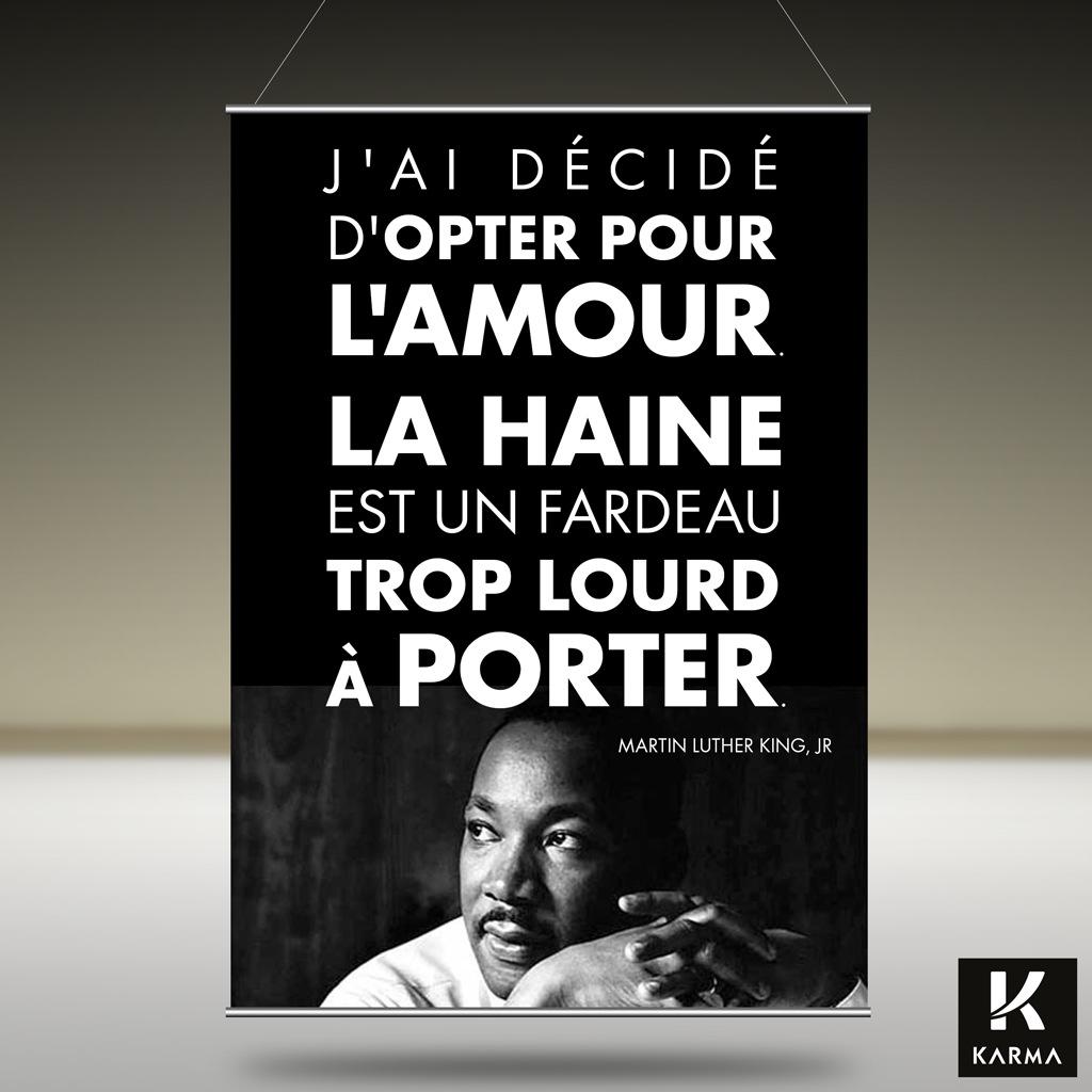 Poster - citation - J ai décidé d opter pour l amour - Martin Luther King