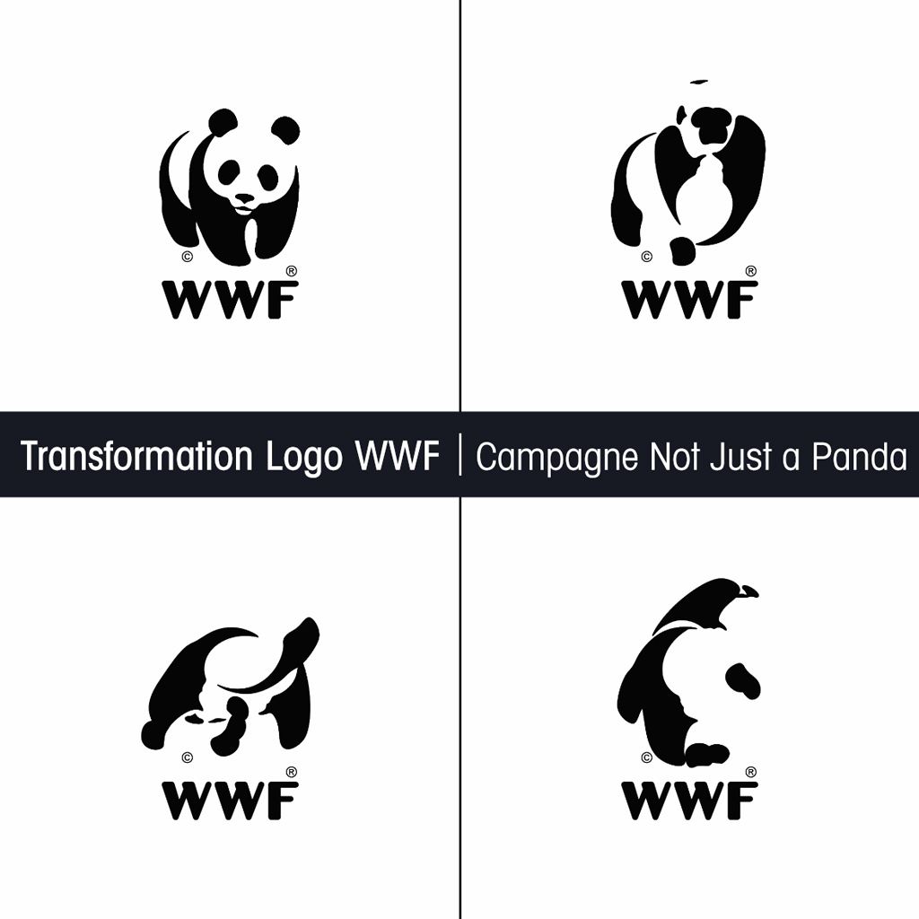 Transformation Logo WWF - Campagne Not Just a Panda - Studio Karma