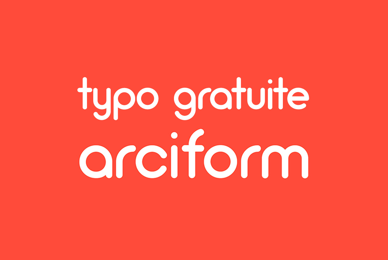 Typo Gratuite Arciform - Free Font - Studio Karma