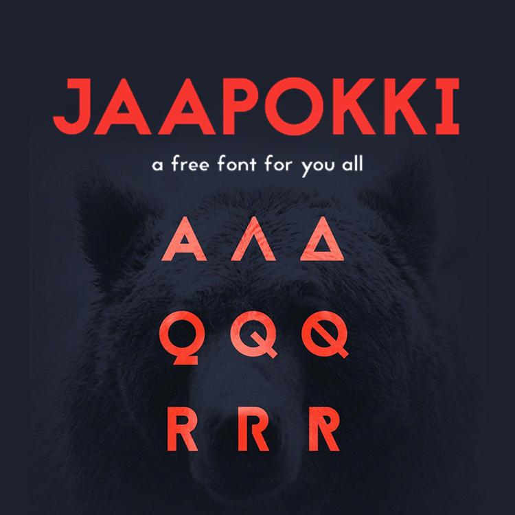 Typo Gratuite Jaapokki | Free Font | Studio Karma
