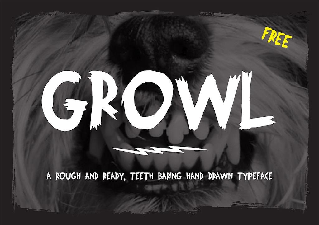 Typo Gratuite Growl | Free Font | Studio Karma - 1