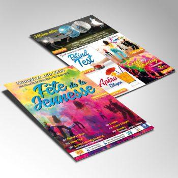 Création Flyer Fête de la Jeunesse AJC MJC Thoissey