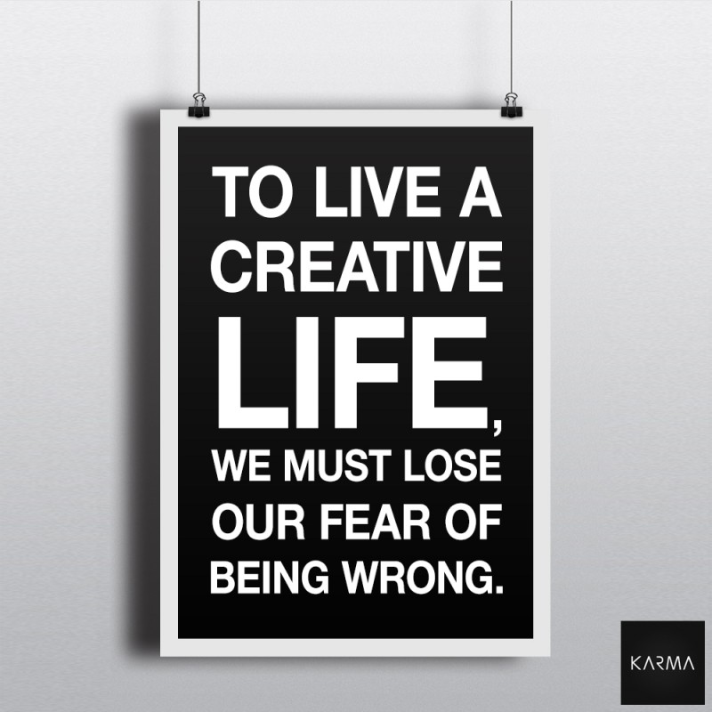 Studio Karma - Poster Citation Vie créative