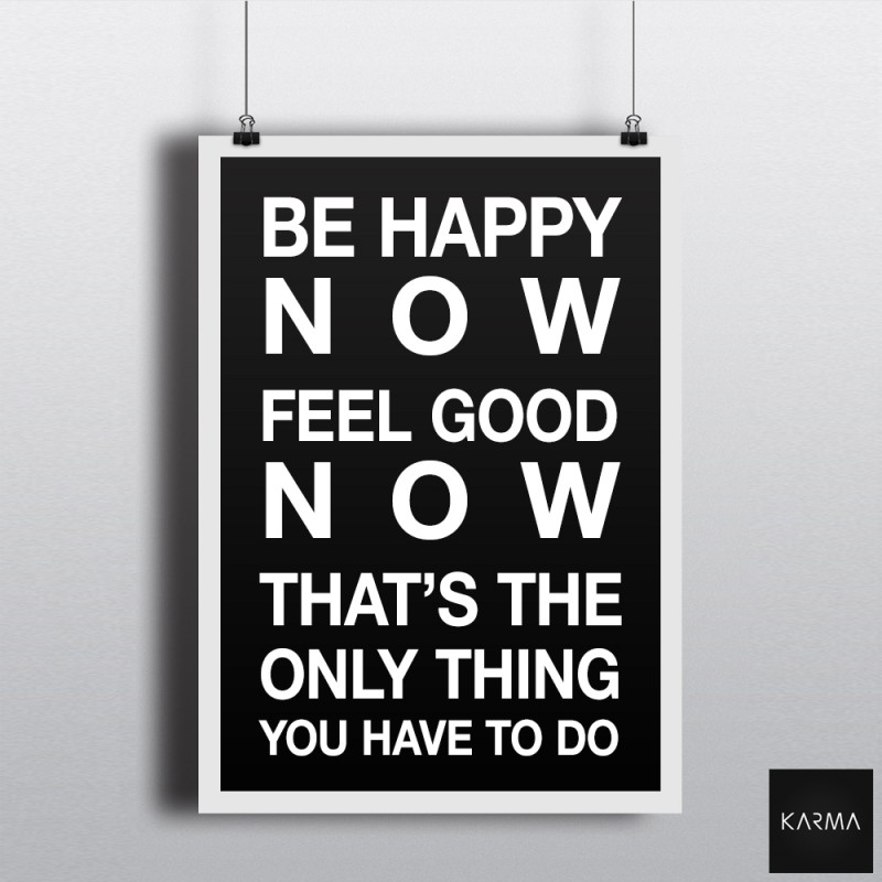 Studio Karma - Poster Quote Be Happy Good Feel Good