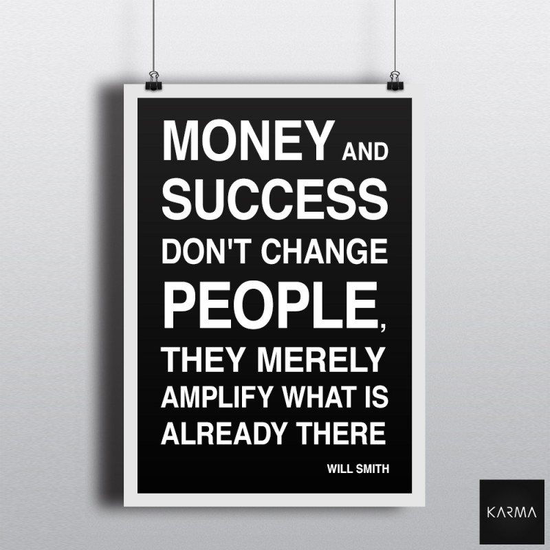 Studio Karma - Poster Will Smith Quote Money Success