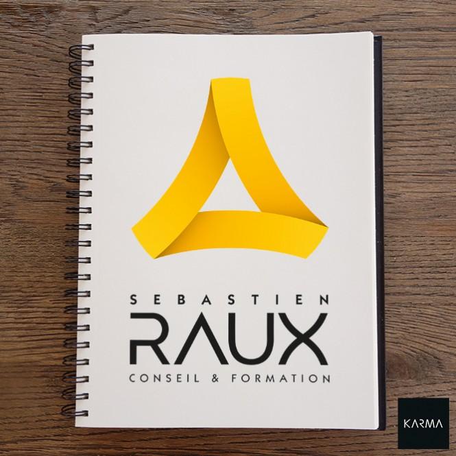 Création de Logo pour Sébastien Raux par Studio Karma - graphiste Freelance - Formation