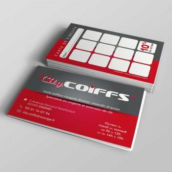 Création de Carte de Fidélité City Coiff - Salon de Coiffure