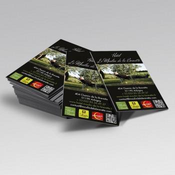 Création Cartes de visite Hôtel Moulin de la Brevette