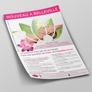 Creation Flyer - Alexandra Julien - Auteur Thérapeuthe Reiki par Studio Karma - Graphiste Freelance Formation Lyon Ain Rhone Alpes