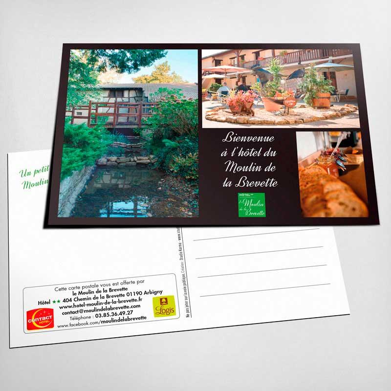 Creation Cartes Postale Hotel Moulin De La Brevette