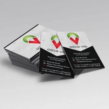 Studio Karma Carte de Visite Dolce Vita par Studio Karma - Graphiste Freelance Formation Lyon Ain Rhone Alpes
