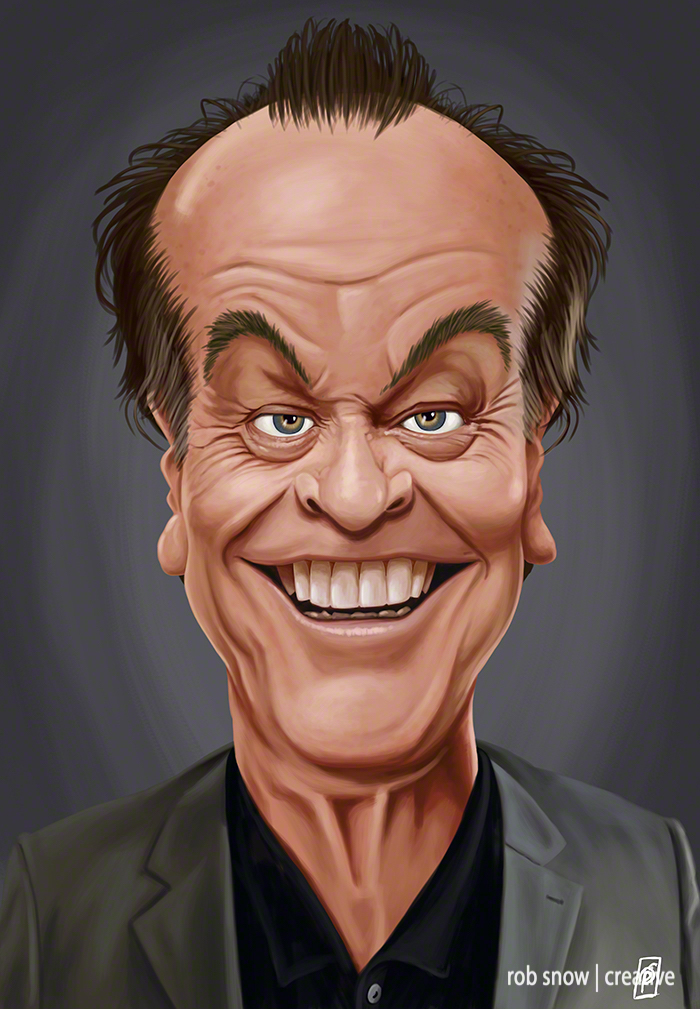 Celebrity Sunday - Jack Nicholson - Rob Snow Artwork