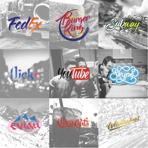Logos célébres Style Calligraphique