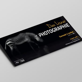 Vignette Dan Lisner Photographie Flyer DL 21x10 par Studio Karma - Graphiste Freelance Formation Lyon Ain Rhone Alpes