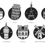 Magnifiques illustrations de monuments célèbres