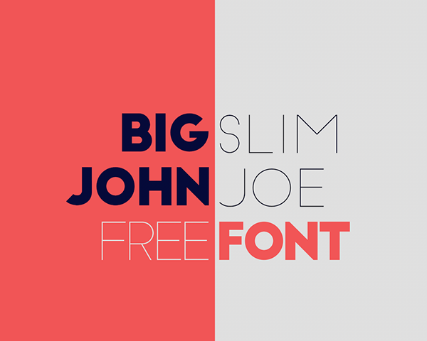 Typo Big John / Slim Joe par Ion Lucin - Police de caractère Gratuite - Article Studio Karma