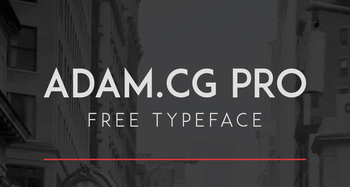 ADAM.CG PRO par Shrenik Ganatra - Free Font - Police Gratuite