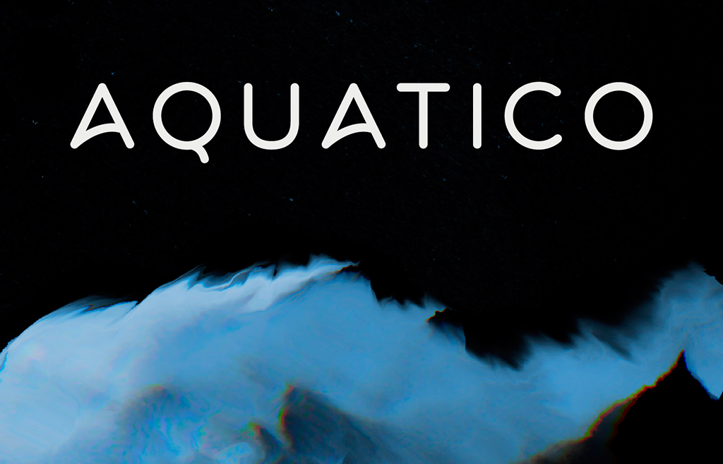 Typo Aquatico par Andrew Herndon - Police de caractère Gratuite