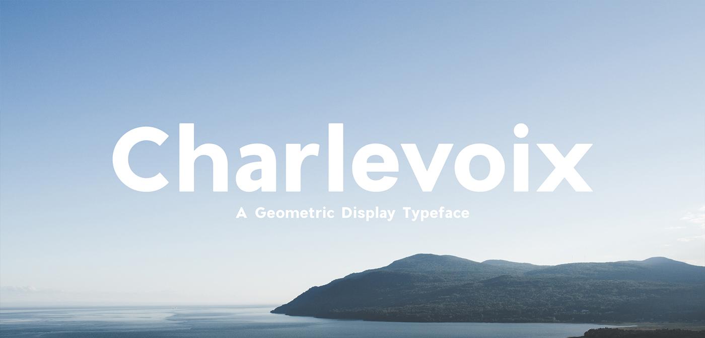 Charlevoix par Mathieu Desjardins - Free Font - Police Gratuite