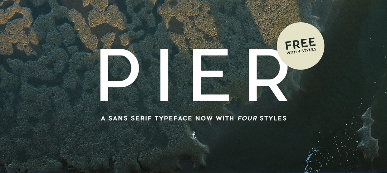 Pier Sans Par Mathieu Desjardins - Free Font - Police Gratuite
