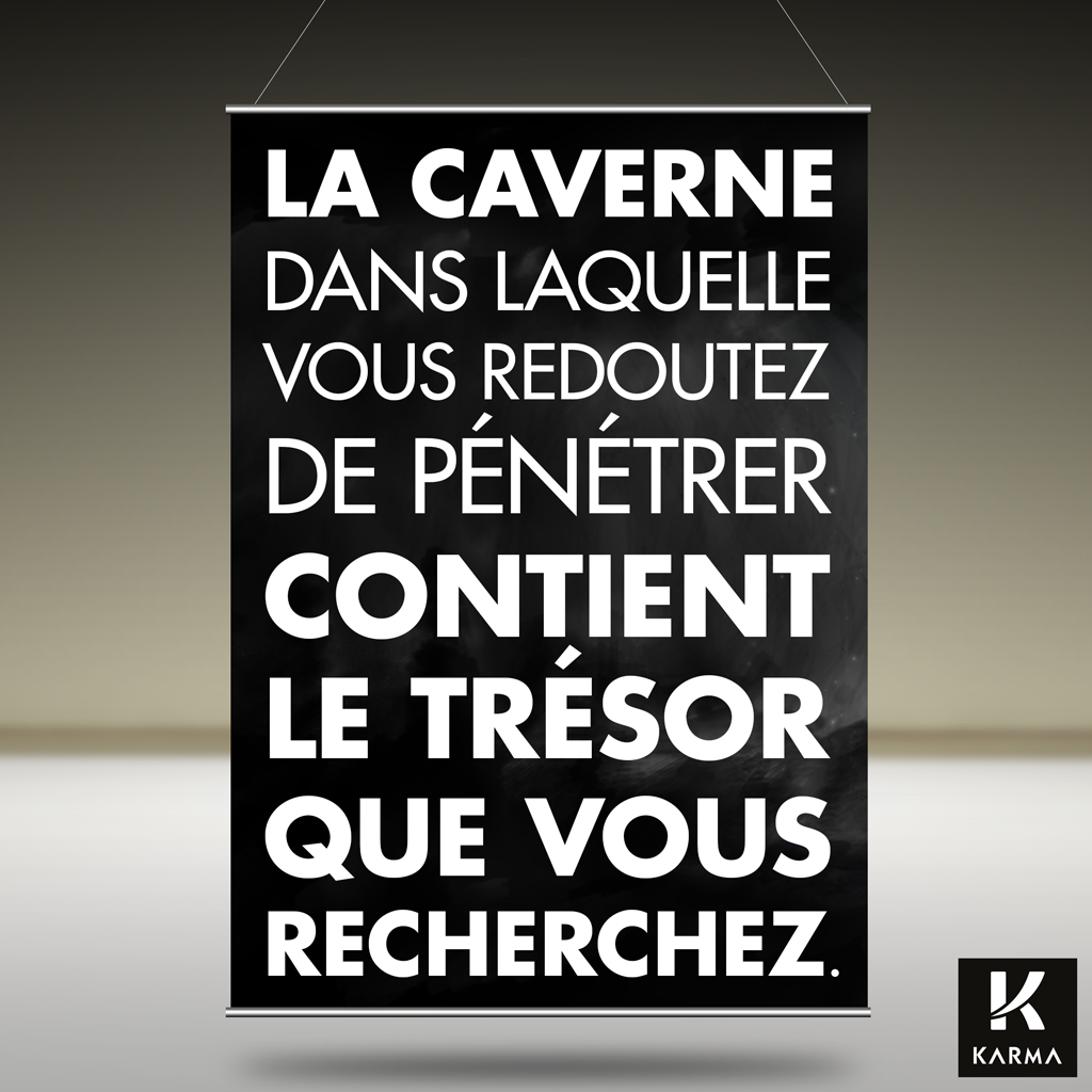 Poster citation La Caverne -Joseph Campbell - Studio Karma