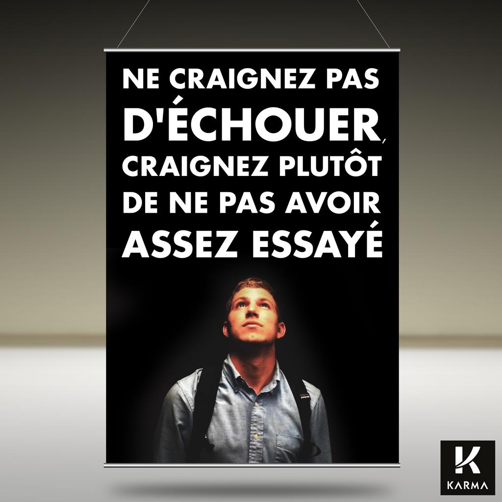 Poster citation Ne craignez pas d'échouer