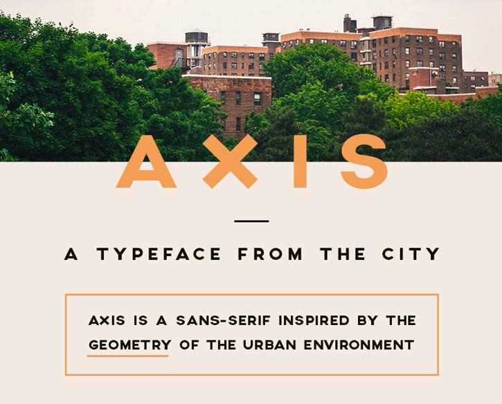Typo Axis par Jean Wojciechowski - Free Font - Police Gratuite