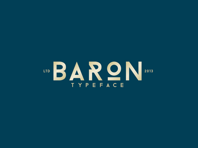 Typo Baron par Frank Hemmekam - Free Font - Police Gratuite