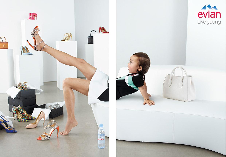 Campagne Evian Live Young par Jean Yves Lemoigne - Studio Karma