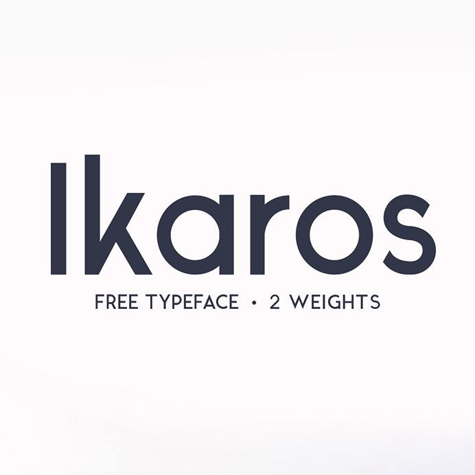 Ikaros - Free Fonts - Police de caractère Gratuite