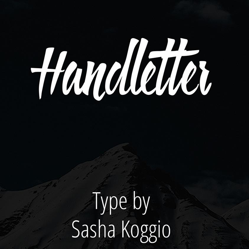 Typo Gratuite Handletter par Sasha Koggio | Studio Karma