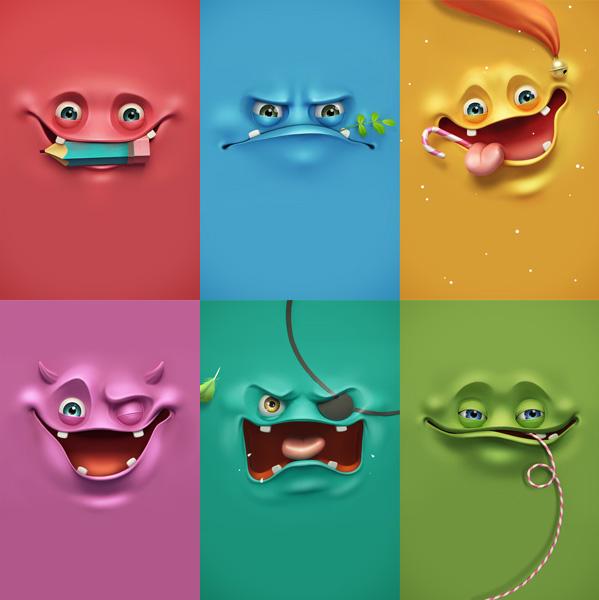 Funny Face Wallpaper | Wallpaper Visage | Studio Karma