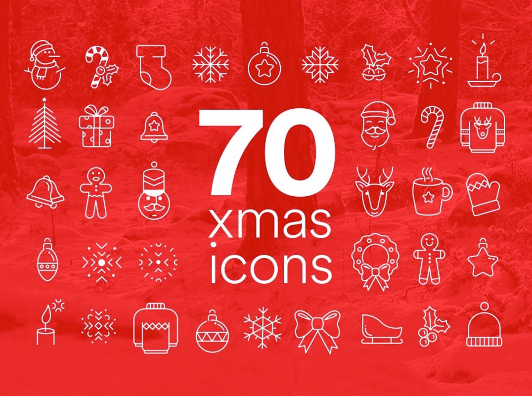 Pack Gratuit icônes Noël Free Christmas Icons - 1