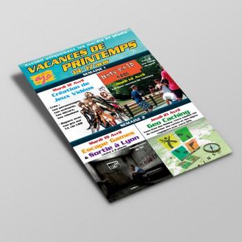 Flyer MJC AJC Thoissey Vacances Printemps Ado