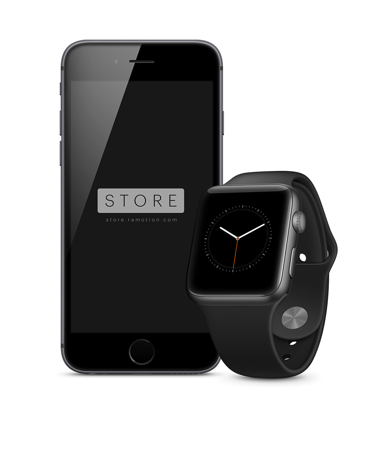 Mockup Gratuit Apple iPhone 6 et Apple Watch - Free Mockup iPhone 6 and Apple Watch - 1