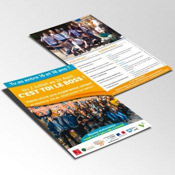 Presentation Flyer CJS Calad Impulsion Villefranche - Studio Karma - Graphiste