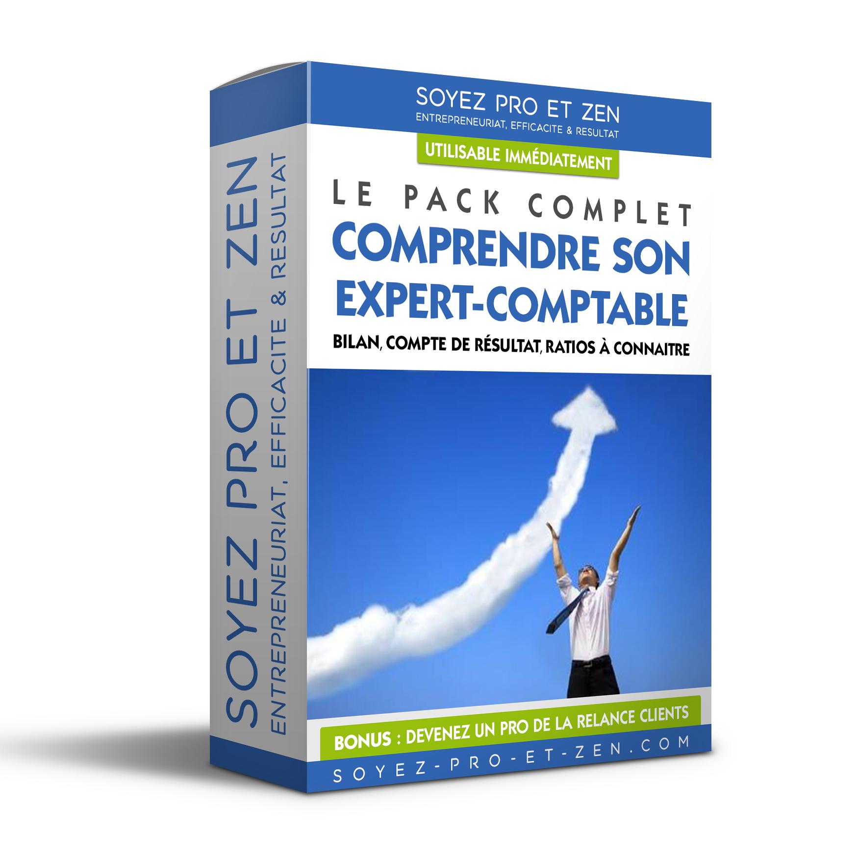 Creation Packaging de Boite Conseil Expert Comptable - Soyez-Pro-et-Zen - Coaching Entreprise