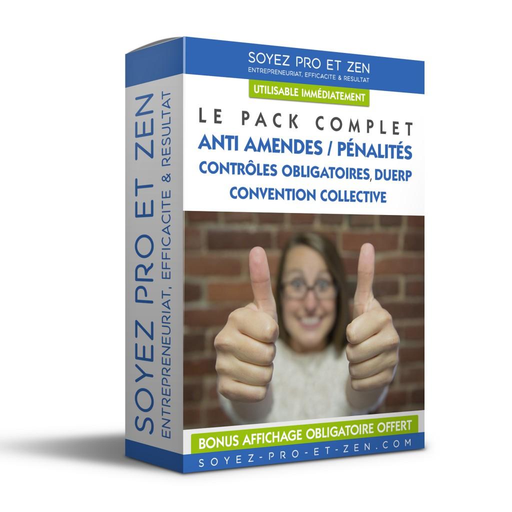 Creation Packaging de Boite Amendes Penalités - Soyez-Pro-et-Zen - Coaching Entreprise