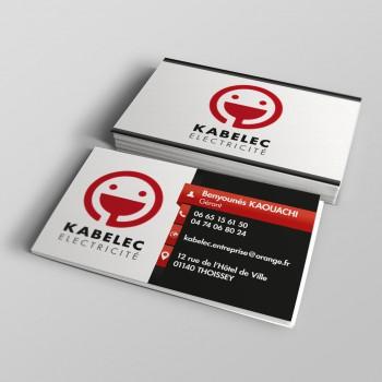 Création Carte de visite KABELEC Electricité THOISSEY