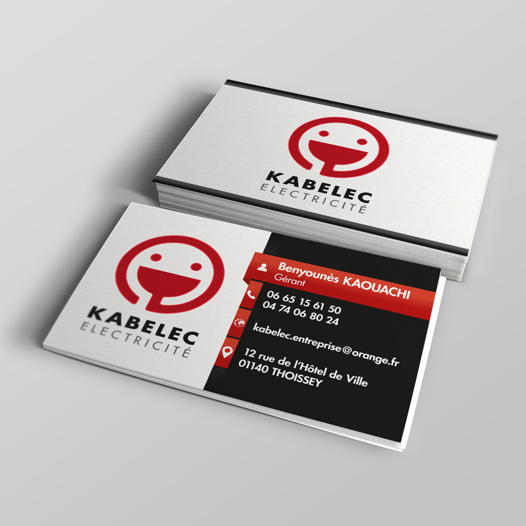 Creation Carte De Visite KABELEC Electricite THOISSEY
